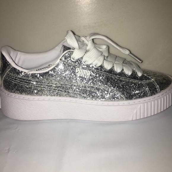 official photos ce554 c70ab Puma Shoes | Basket Platform Rihana Sneakers Silver 75 | Poshmark